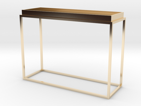 Miniature Tray Top Console Table in 14k Gold Plated Brass