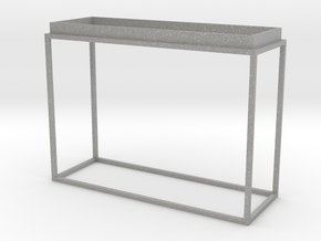 Miniature Tray Top Console Table in Aluminum