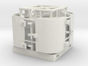 offshore drum rack 1:50 movable doors in White Natural Versatile Plastic