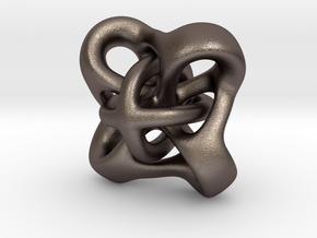 Twirly pendant in Polished Bronzed Silver Steel