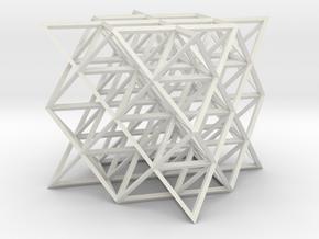 64 tetrahedrons, rhombic struts in White Natural Versatile Plastic