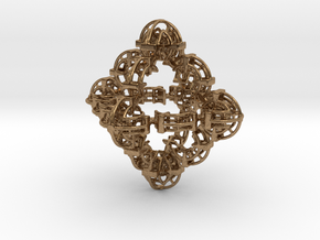 Fractal Geom TF4 in Natural Brass