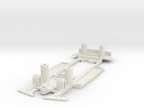 Chassis for Scalextric Holden Commodore (C2692) in White Natural Versatile Plastic