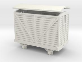 OO9 Brake Van - Corris/Talyllyn (No Buffers) in White Natural Versatile Plastic
