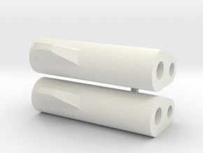 LM Tread: 22mm watch adapters in White Natural Versatile Plastic