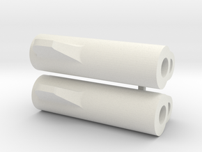 LM Tread: 20mm watch adapter in White Natural Versatile Plastic