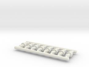 Pen Refill Connector (short): 3mm Tube Type in White Natural Versatile Plastic