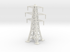 Transmission Tower 1/200 in White Natural Versatile Plastic