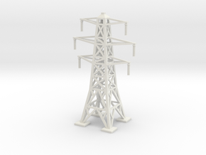 Transmission Tower 1/285 in White Natural Versatile Plastic