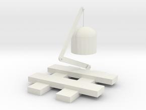 firelamp in White Natural Versatile Plastic: Small