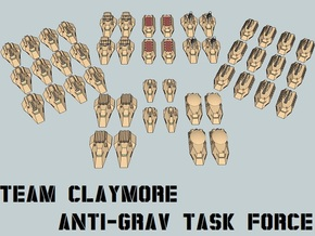 """""""Team Claymore"""" 3mm Anti-Grav Task Force (48pcs) in Smooth Fine Detail Plastic"""