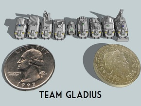 """Team Gladius"" 3mm Wheeled Sampler (9pcs) in Smooth Fine Detail Plastic"