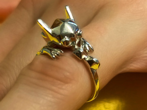 Sable Ring in Polished Silver: 7 / 54