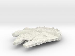 Star Wars Millennium Falcon in White Natural Versatile Plastic