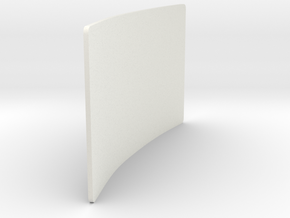 Battery Front Door LAMA 95 55 RCH in White Natural Versatile Plastic