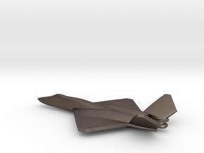 Northrop YF-23 Black Widow II in Polished Bronzed-Silver Steel: 1:400