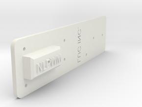 "NLPWM Template (1/16"" Holes) in White Natural Versatile Plastic"