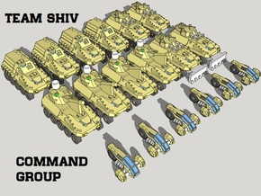 """""""Team Shiv"""" 3mm Wheeled HQ Group (18pcs) in Smooth Fine Detail Plastic"""