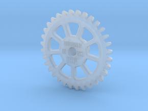 Stencil Machine Gear 1 - USA in Smooth Fine Detail Plastic