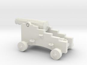 1/48 Scale 4 Pounder Naval Gun in White Natural Versatile Plastic