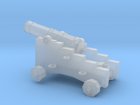 1/72 Scale 6 Pounder Naval Gun in Smooth Fine Detail Plastic