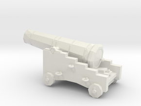 1/48 Scale 18 Pounder Naval Gun in White Natural Versatile Plastic