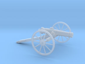 1/87 Scale American Civil War Cannon 24-pounder  in Smooth Fine Detail Plastic