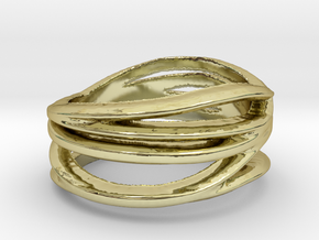 My Awesome Ring Design Ring Size 8 in 18k Gold Plated Brass