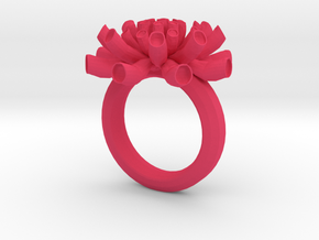 Sea Anemone ring 16.5mm in Pink Processed Versatile Plastic