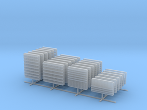 1/100 DKM Louvers 3 Set x24 in Smooth Fine Detail Plastic