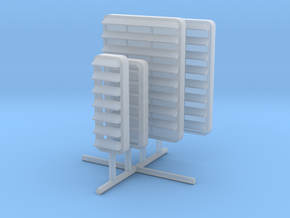 1/96 DKM Louver 1 Set x4 in Smooth Fine Detail Plastic