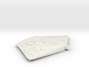 Axe Blade Part B in White Natural Versatile Plastic