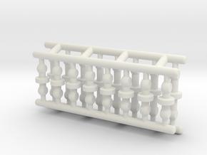 Pen Refill Connector (long & short): 3mm Tube Type in White Natural Versatile Plastic