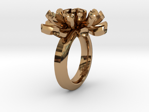 Sea Anemone Ring17.5mm in Polished Brass