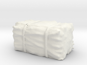 Hay Bale 1/56 in White Natural Versatile Plastic