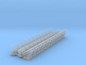 (1:285) CIWS+RAM+Harpoon (x12) in Smooth Fine Detail Plastic