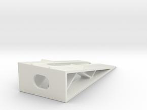 Car Display Ramp 1/100 in White Natural Versatile Plastic
