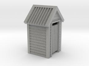 N Scale Wooden Outdoor Toilet Dunny 1:160 in Metallic Plastic