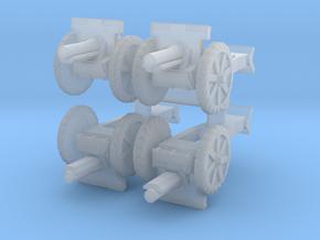 Canon de 105 court (rubber tires) (x4) 1/285 in Smooth Fine Detail Plastic