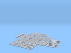 IviMob02 - Sewer plates in Smooth Fine Detail Plastic