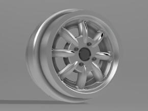 1/64 scale 8 spoke racing (Minilites/Watanabes) 8m in Smoothest Fine Detail Plastic