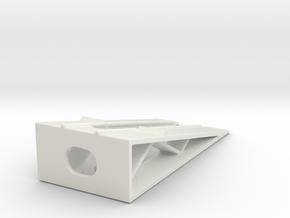 Car Display Ramp 1/144 in White Natural Versatile Plastic