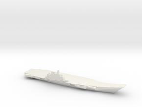 1/1800 Scale Chinese Liáoníng Jiàn Aircraft Carrie in White Natural Versatile Plastic