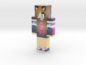 Cute_Galaxy_Cat_Girl (1) | Minecraft toy in Glossy Full Color Sandstone