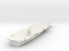 1/1800 Scale  Chinese Type 003 Aircraft Carrier in White Natural Versatile Plastic