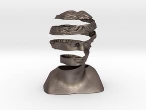 A Ribbon Venus in Polished Bronzed-Silver Steel