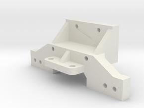 B1M bulkhead for graphite RC10s in White Natural Versatile Plastic
