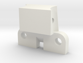 B1M rear chassis brace in White Natural Versatile Plastic