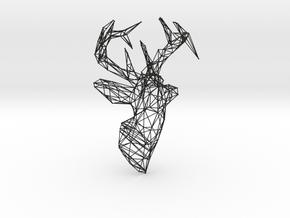 Deer Wire Trophy in Black Natural Versatile Plastic
