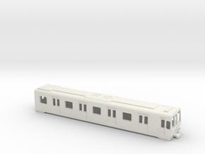 Carcasa S5000 AC Metro Madrid Subway H0 in White Natural Versatile Plastic